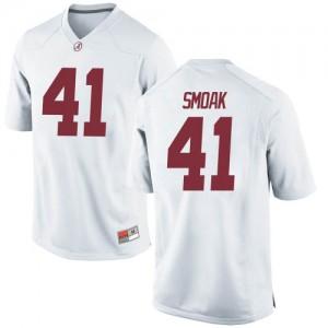 Men Alabama Crimson Tide Kyle Smoak #41 College White Replica Football Jersey 797718-166