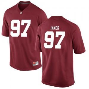 Men Alabama Crimson Tide LT Ikner #97 College Crimson Game Football Jersey 630709-904
