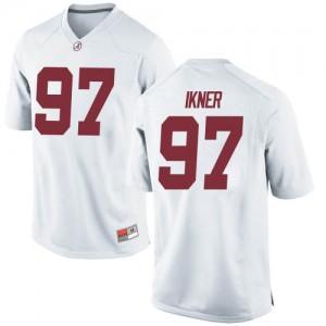 Men Alabama Crimson Tide LT Ikner #97 College White Game Football Jersey 638522-972
