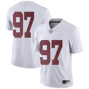 Men Alabama Crimson Tide LT Ikner #97 College White Limited Football Jersey 356645-624