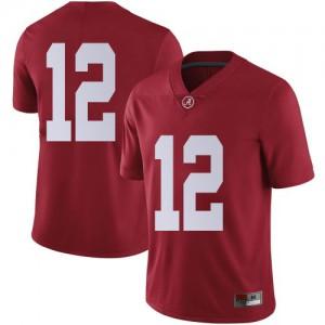 Men Alabama Crimson Tide Logan Burnett #12 College Crimson Limited Football Jersey 657247-588