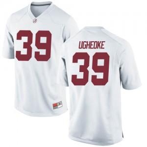 Men Alabama Crimson Tide Loren Ugheoke #39 College White Replica Football Jersey 241980-348