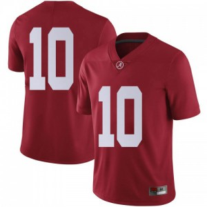 Men Alabama Crimson Tide Mac Jones #10 College Crimson Limited Football Jersey 610367-324