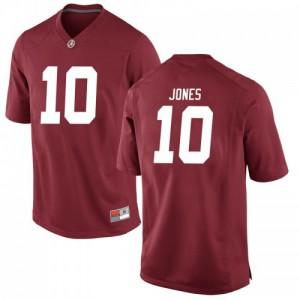 Men Alabama Crimson Tide Mac Jones #10 College Crimson Replica Football Jersey 452815-340
