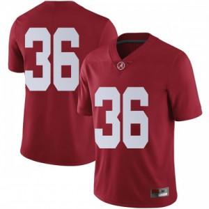 Men Alabama Crimson Tide Markail Benton #36 College Crimson Limited Football Jersey 777114-802