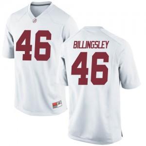 Men Alabama Crimson Tide Melvin Billingsley #46 College White Game Football Jersey 286388-658
