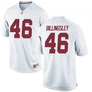 Men Alabama Crimson Tide Melvin Billingsley #46 College White Replica Football Jersey 162240-388