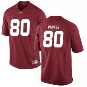 Men Alabama Crimson Tide Michael Parker #80 College Crimson Replica Football Jersey 289232-189