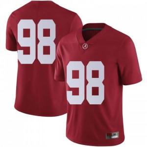 Men Alabama Crimson Tide Mike Bernier #98 College Crimson Limited Football Jersey 818488-116