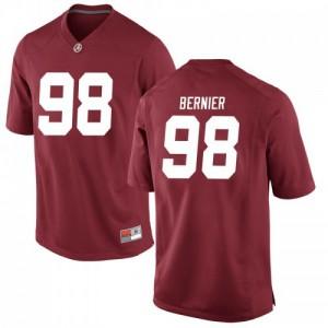 Men Alabama Crimson Tide Mike Bernier #98 College Crimson Replica Football Jersey 808774-133