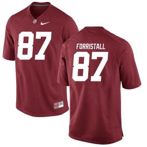 Men Alabama Crimson Tide Miller Forristall #87 College Crimson Limited Football Jersey 665255-640