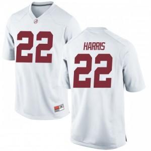 Men Alabama Crimson Tide Najee Harris #22 College White Game Football Jersey 144855-721