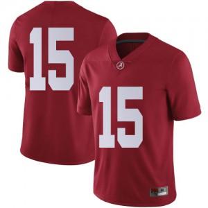 Men Alabama Crimson Tide Paul Tyson #15 College Crimson Limited Football Jersey 341616-969