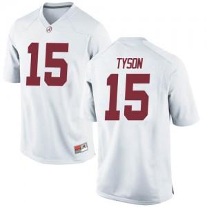 Men Alabama Crimson Tide Paul Tyson #15 College White Replica Football Jersey 533348-812