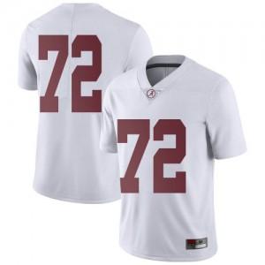 Men Alabama Crimson Tide Pierce Quick #72 College White Limited Football Jersey 427927-664