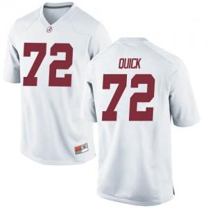 Men Alabama Crimson Tide Pierce Quick #72 College White Replica Football Jersey 644381-183