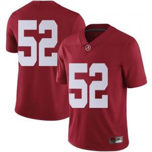 Men Alabama Crimson Tide Preston Malone #52 College Crimson Limited Football Jersey 339060-514
