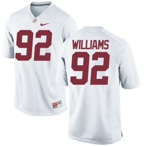 Men Alabama Crimson Tide Quinnen Williams #92 College White Authentic Football Jersey 670544-375