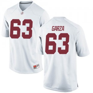 Men Alabama Crimson Tide Rowdy Garza #63 College White Game Football Jersey 793755-612