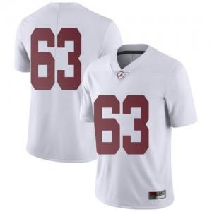 Men Alabama Crimson Tide Rowdy Garza #63 College White Limited Football Jersey 361574-396