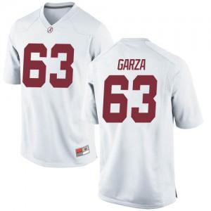 Men Alabama Crimson Tide Rowdy Garza #63 College White Replica Football Jersey 799923-732