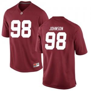 Men Alabama Crimson Tide Sam Johnson #98 College Crimson Game Football Jersey 276207-264
