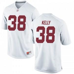 Men Alabama Crimson Tide Sean Kelly #38 College White Game Football Jersey 604257-794