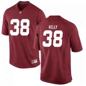 Men Alabama Crimson Tide Sean Kelly #38 College Crimson Replica Football Jersey 173764-854