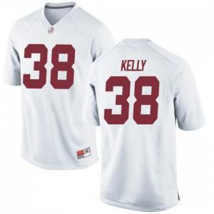 Men Alabama Crimson Tide Sean Kelly #38 College White Replica Football Jersey 438538-161
