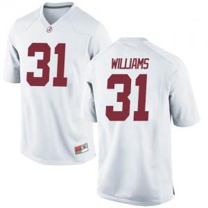 Men Alabama Crimson Tide Shatarius Williams #31 College White Replica Football Jersey 532848-892