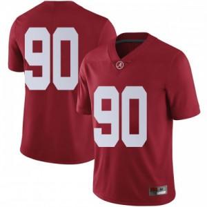 Men Alabama Crimson Tide Stephon Wynn Jr. #90 College Crimson Limited Football Jersey 259981-369