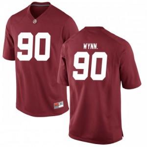 Men Alabama Crimson Tide Stephon Wynn Jr. #90 College Crimson Replica Football Jersey 993284-359