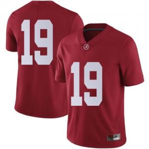 Men Alabama Crimson Tide Stone Hollenbach #19 College Crimson Limited Football Jersey 494674-617
