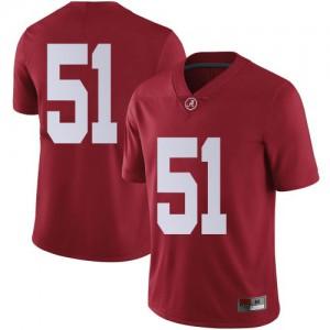 Men Alabama Crimson Tide Tanner Bowles #51 College Crimson Limited Football Jersey 519068-696