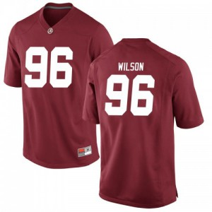 Men Alabama Crimson Tide Taylor Wilson #96 College Crimson Replica Football Jersey 941883-775