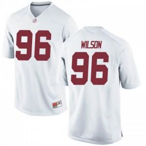 Men Alabama Crimson Tide Taylor Wilson #96 College White Replica Football Jersey 556470-350