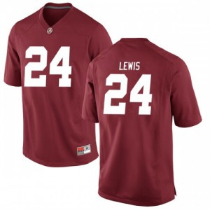 Men Alabama Crimson Tide Terrell Lewis #24 College Crimson Game Football Jersey 944348-262