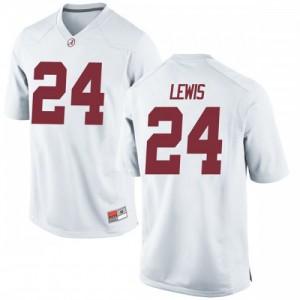 Men Alabama Crimson Tide Terrell Lewis #24 College White Game Football Jersey 126353-785