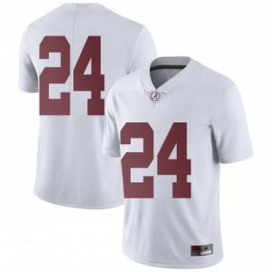 Men Alabama Crimson Tide Terrell Lewis #24 College White Limited Football Jersey 186180-521