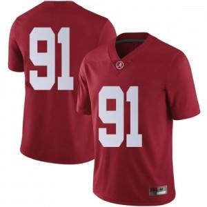 Men Alabama Crimson Tide Tevita Musika #91 College Crimson Limited Football Jersey 790073-965