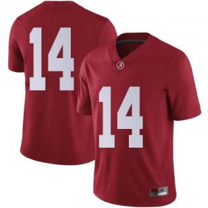Men Alabama Crimson Tide Thaiu Jones-Bell #14 College Crimson Limited Football Jersey 967821-981