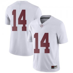 Men Alabama Crimson Tide Thaiu Jones-Bell #14 College White Limited Football Jersey 145118-341