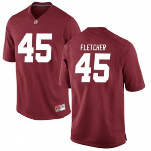 Men Alabama Crimson Tide Thomas Fletcher #45 College Crimson Game Football Jersey 443246-554