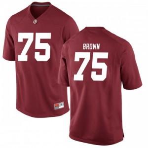 Men Alabama Crimson Tide Tommy Brown #75 College Brown Replica Crimson Football Jersey 575169-901