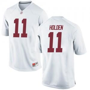 Men Alabama Crimson Tide Traeshon Holden #11 College White Game Football Jersey 436625-343