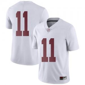 Men Alabama Crimson Tide Traeshon Holden #11 College White Limited Football Jersey 546605-914
