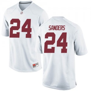 Men Alabama Crimson Tide Trey Sanders #24 College White Replica Football Jersey 421379-589