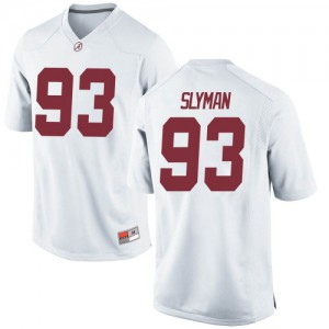 Men Alabama Crimson Tide Tripp Slyman #93 College White Game Football Jersey 183710-374
