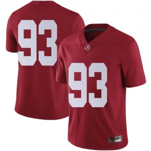Men Alabama Crimson Tide Tripp Slyman #93 College Crimson Limited Football Jersey 261968-190