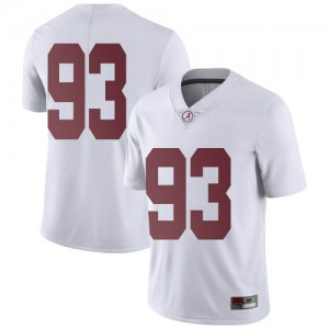 Men Alabama Crimson Tide Tripp Slyman #93 College White Limited Football Jersey 967391-885